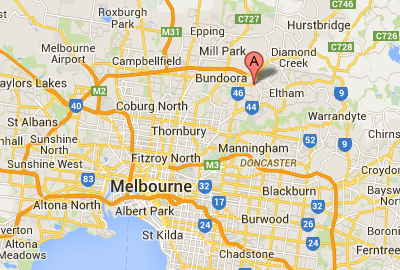 Map of Greensborough, Melbourne - location of Paternity Testing Australia